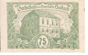 75 Heller (Haibach bei Aschach) -  obverse