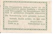 75 Heller (Haibach bei Aschach) -  reverse