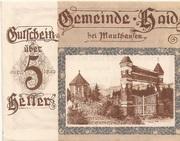 5 Heller (Haid bei Mauthausen) -  obverse