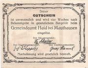 5 Heller (Haid bei Mauthausen) -  reverse