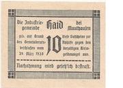 10 Heller (Haid bei Mauthausen) -  reverse