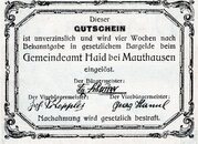 30 Heller (Haid bei Mauthausen) -  reverse