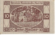 10 Heller (Haidershofen) – obverse