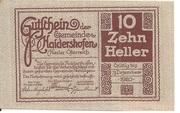 10 Heller (Haidershofen) – reverse