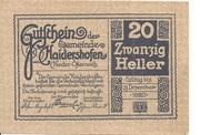 20 Heller (Haidershofen) -  reverse