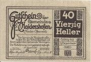 40 Heller (Haidershofen) -  reverse