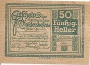 50 Heller (Haidershofen) – reverse