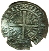 Half Groat with rider – reverse