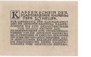 10 Heller (Hainburg) -  reverse
