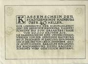 20 Heller (Hainburg) -  reverse