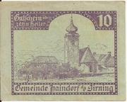 10 Heller (Haindorf a. d. Sirning) – obverse