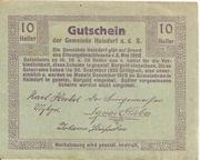 10 Heller (Haindorf a. d. Sirning) – reverse