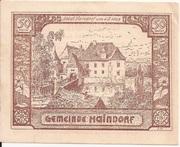 50 Heller (Haindorf a. d. Sirning) – obverse