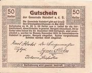 50 Heller (Haindorf a. d. Sirning) – reverse