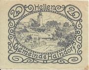 20 Heller (Haindorf a. d. Sirning) – obverse