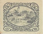 20 Heller (Haindorf a. d. Sirning) – reverse