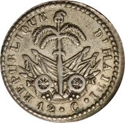12 Centimes – reverse