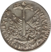 12 Centimes (Western Republic; small bust) – reverse