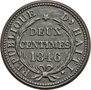 2 Centimes – reverse
