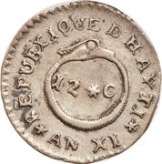 12 Centimes (Western Republic) – reverse