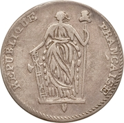 ½ Escalin – obverse