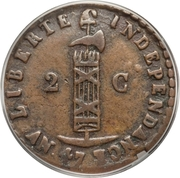 2 Centimes - Faustin I – obverse