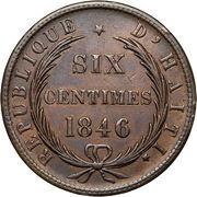 6 Centimes – reverse