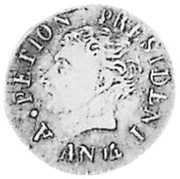 12 Centimes (Western Republic; large bust) – obverse