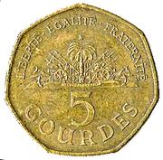 5 Gourdes -  reverse