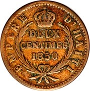 2 Centimes - Faustin I – reverse