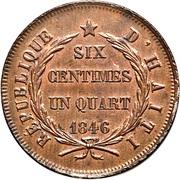 6¼ Centimes – reverse