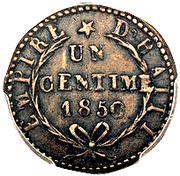 1 Centime - Faustin I – reverse