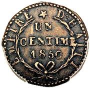 1 Centime - Faustin I – reverse