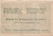 50 Heller (Haizendorf) -  reverse