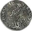 ½ Thaler - Albrecht von Brandenburg – reverse