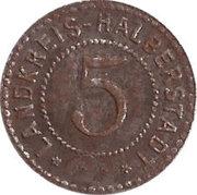 5 Pfennig - Halberstadt – reverse