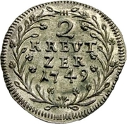 2 Kreuzer - Thomas III – reverse