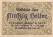 50 Heller (Hall in Tirol - Einsiedler) – obverse