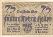 75 Heller (Hall in Tirol - Einsiedler) – obverse