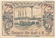 75 Heller (Hall in Tirol - Einsiedler) – reverse