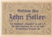10 Heller (Hall in Tirol - Einsiedler) – obverse