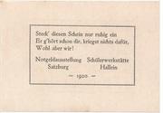 20 Heller (Hallein) – reverse