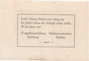 10 Heller (Hallein) – reverse