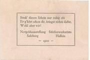 50 Heller (Hallein) – reverse