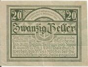 20 Heller (Hallstatt) – reverse