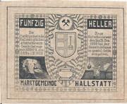 50 Heller (Hallstatt) – reverse