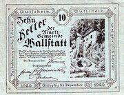 10 Heller (Hallstatt) – obverse