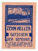 10 Heller (Hallwang) – obverse