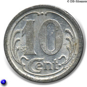 10 Centimes (Ham) – reverse