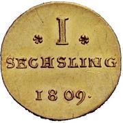 1 Sechsling (Pattern strike) – reverse